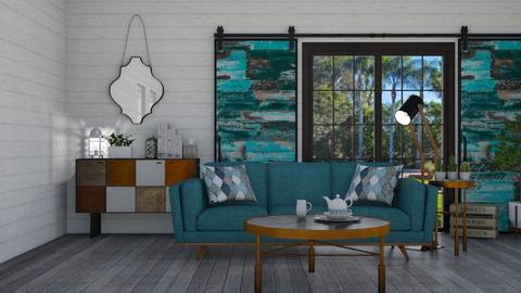 rustic - Rustic - Living room - by heyimkaity