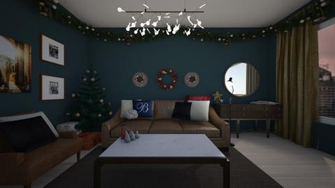 Masculine Christmas - Masculine - Living room - by LukePeterson
