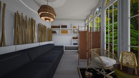 Bamboo Room - Living room - by bleeding star