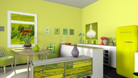 Green attraction - Eclectic - Kitchen - by Noella Louisy