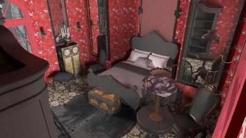 Draculas Bedroom - Vintage - Bedroom - by unglued