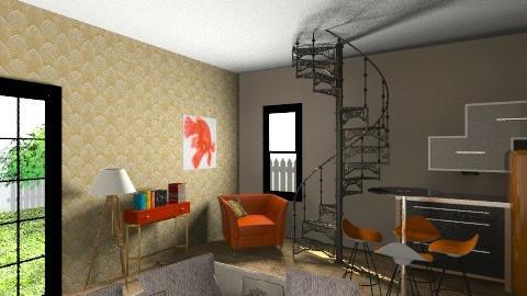 Gold fish - Retro - Living room - by ugottahaveadream