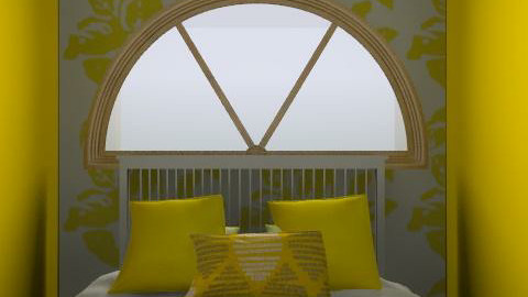 The (dodgy) Yellow bedroom - Country - Bedroom - by CattyEl