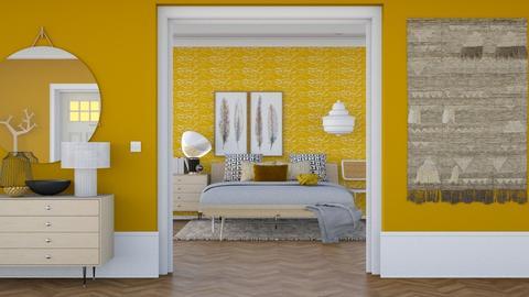 Scandinavian Yellow - Vintage - Bedroom - by HenkRetro1960