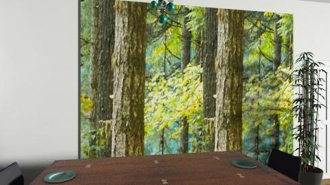 dream green - Rustic - Dining room - by jazzmineherzig