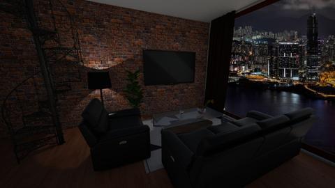 bricks - Living room - by Edy99