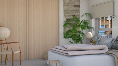 Beige  - Minimal - Bedroom - by HenkRetro1960