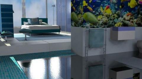 Fish Tank Ensuite - Minimal - Bathroom - by Interiors by Elaine