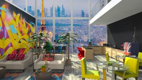 Urban Trendy Bar - Retro - Kitchen - by nikanarbut