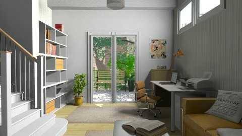 Basement study - Modern - Office - by Tuija