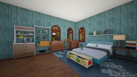 Blue Bedroom - Modern - Bedroom - by Snowella11