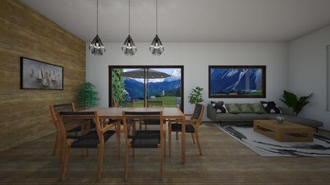 mount open space living - Living room - by elena_daniela04