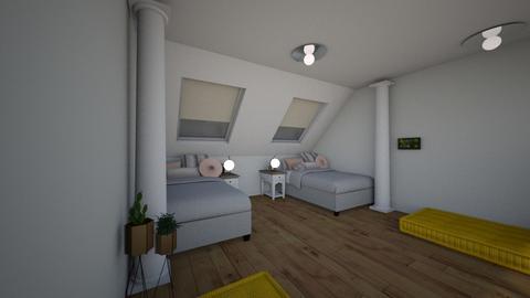 attic room - Bedroom - by smurfzilla