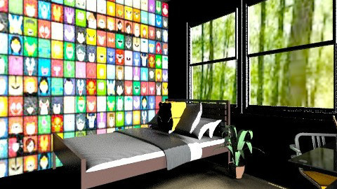 Heroes - Retro - Bedroom - by TigerPrawn