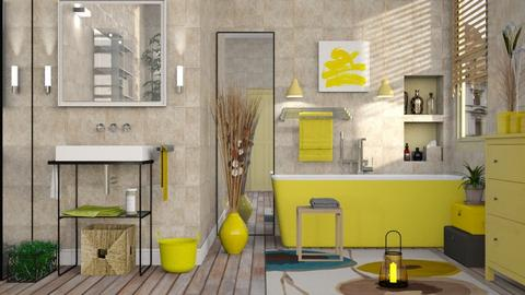 Yellow Bathroom - Eclectic - Bathroom - by Sally Simpson