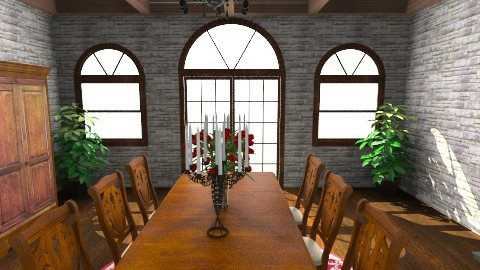 old world style - Rustic - Dining room - by Linda Eubanks