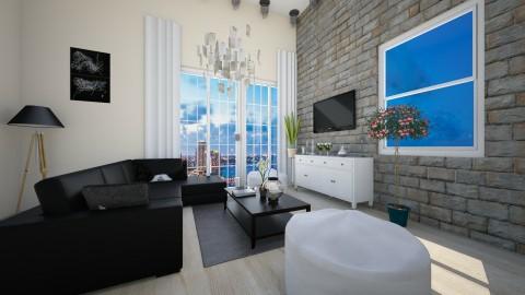 black and white - Classic - Living room - by eleonoraxruc