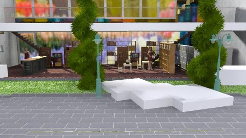 the outskirts library - Eclectic - Garden - by kadee1111
