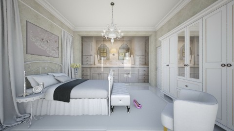 M_W B - Eclectic - Bedroom - by milyca8