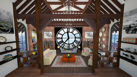 Clock tower - Rustic - Living room - by maja97
