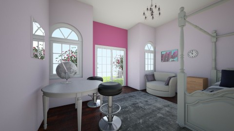 blossoms room - Bedroom - by Kaylee Mahr