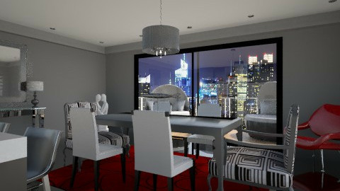 penthouse dining/kitchen - Kitchen - by AshleyLabxtchh
