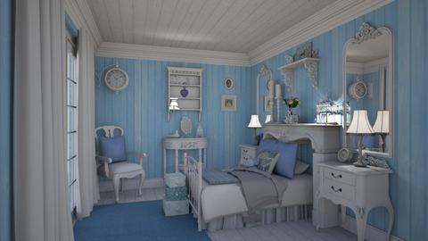 Blue Chic - Bedroom - by creato