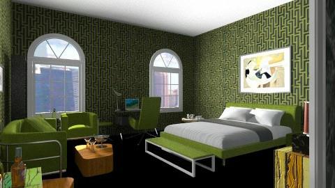 La Bedroom - Retro - Bedroom - by mario75