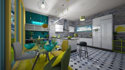 Colorful Kitchen - Kitchen - by libra23