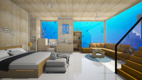 Underwater - Modern - Bedroom - by Anna Wu