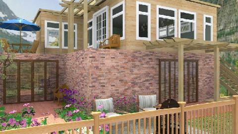 House and Backyard - Rustic - Garden - by Bibiche