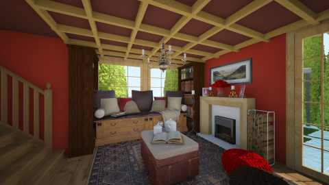 Red dream - Rustic - Living room - by OSanna1234