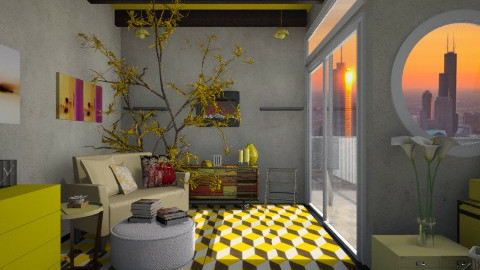 Mood for Yellow - Rustic - Living room - by ayudewi382