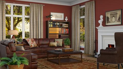 The Study - Living room - by GraceKathryn
