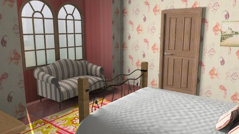 Country bed - Country - Bedroom - by blogi