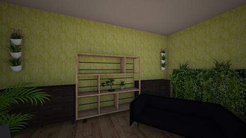 jungle themed living room - Living room - by griffinlaurel