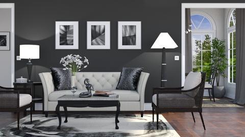 Black - Living room - by GraceKathryn