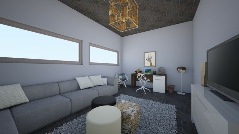 Grey Gold - Living room - by ISISANGELB