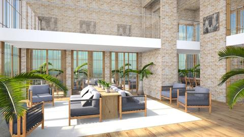 Large Palm House - Global - Living room - by millerfam