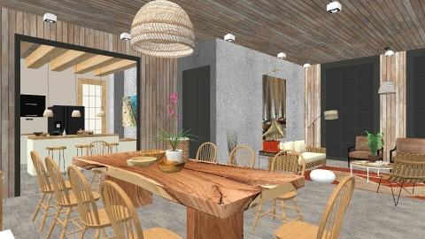 Zen Dining - Dining room - by cervidaeus