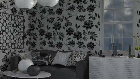 bianco e nero - Glamour - Living room - by catcarla
