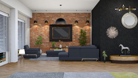 living room and dinning - Minimal - by Vasile Bianca Rozalia