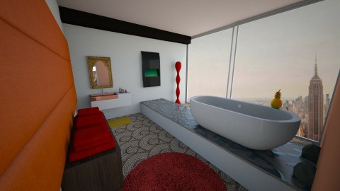 Eastern style loft bath - by Stephen Styles