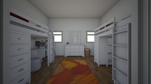 ava and kellys dorm room - Modern - Bedroom - by acarney
