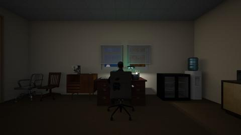 Night Office - Office - by WestVirginiaRebel