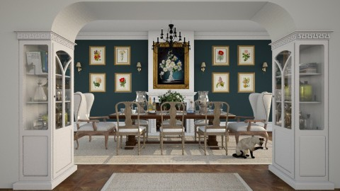 Dining Room and Wall Art - Classic - Dining room - by maja97