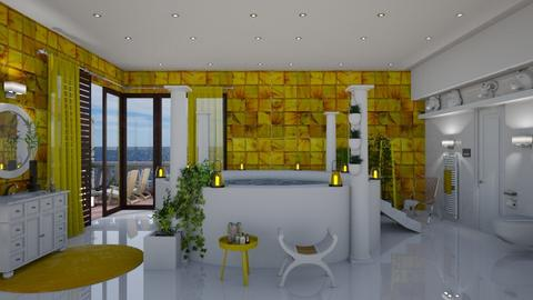 yellow bathroom - Eclectic - Bathroom - by Ida Dzanovic