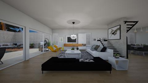 SIDE GARDEN - Living room - by flacazarataca_1