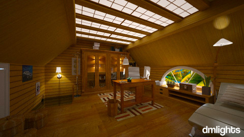Attic renovation - Rustic - Office - by Lackew
