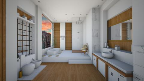 White Wood Bathroom - Bathroom - by Tuubz